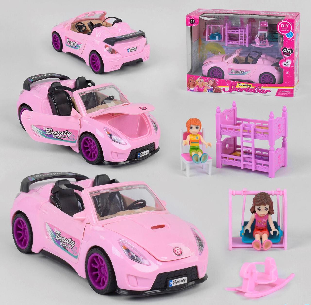 "Машинка ""Beauty Sportcars"" свет, звук, на батарейках, в коробке 7800"