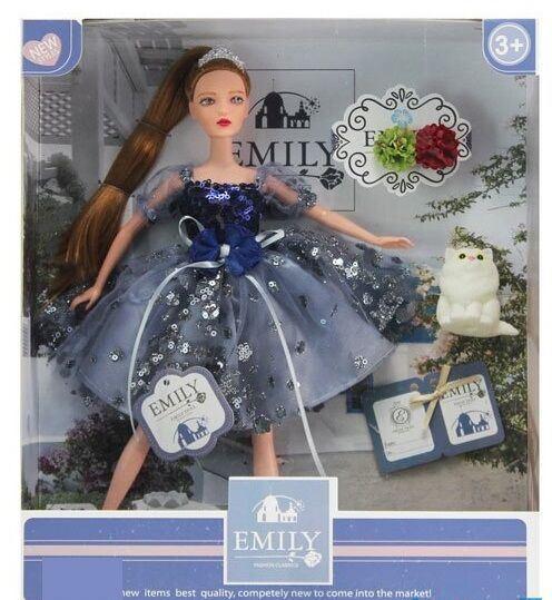 Кукла Emily с котиком в коробке QJ 089 C