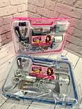 """НАБОР ПАРИКМАХЕРА """"Fashion"""" Фен, ножницы, расческа, триммер, бритва, станок, 2 цвета, в чемодане 80073A, фото 2"""