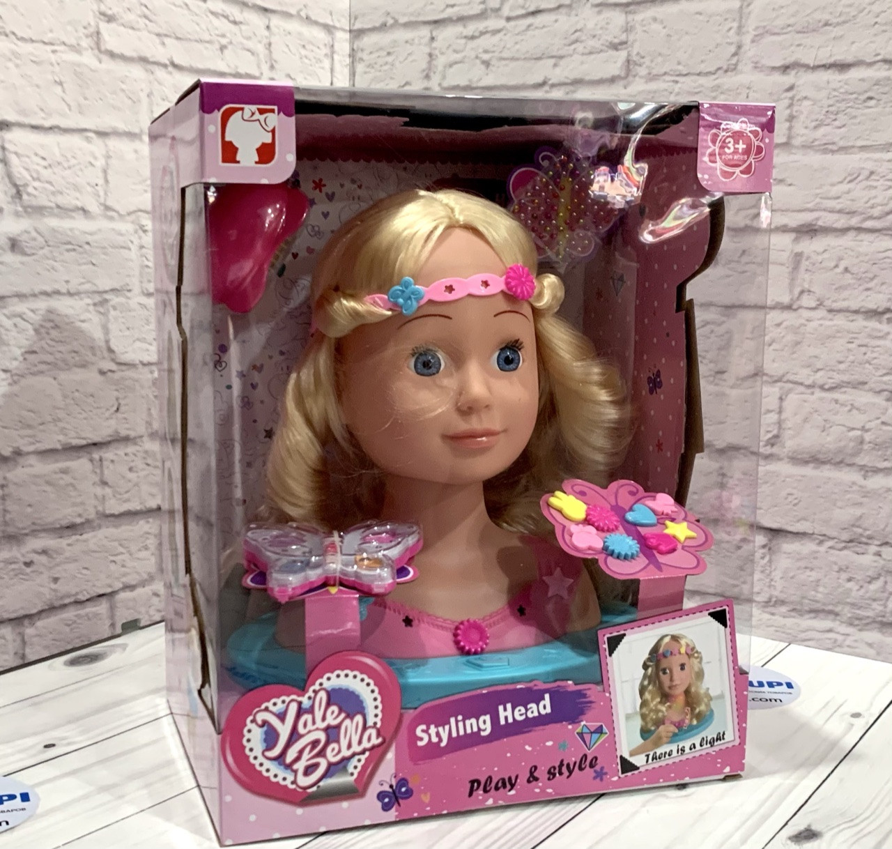 "Кукла-голова ""Yale Bella"" манекен для причесок и макияжа YL888A-1"