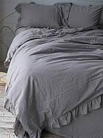 Постільна білизна сімейне Limasso варений бавовна сірий 160х220х2 LM800231, фото 1