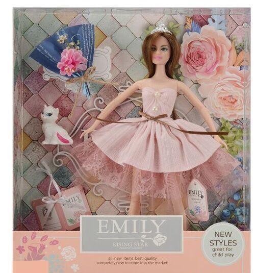 Лялька Emily з букетом і аксесуарами, в коробці QJ 077 A