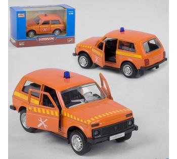 "Машинка металлопластик PLAY SMART ""Автопарк"" 1 вид, инерция, в коробке 6400 F"