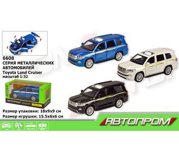 Машина металлическая  АВТОПРОМ  LAND CRUISER, 3 цвета, свет, звук, открываются двери
