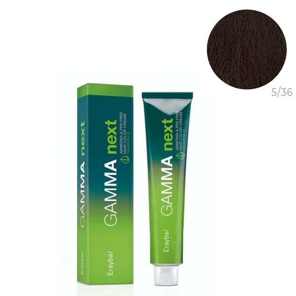 Безаммиачная крем-краска для волос Erayba Gamma Neхt 5/52 Переливающийся махагон светло-каштановый 100 мл