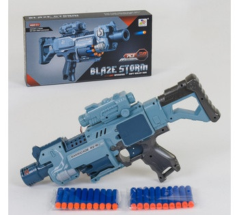 "Автомат ""Baze Storm"" с мягкими пулями, на батарейках, в коробке система типа *NERF* ZC 7079"