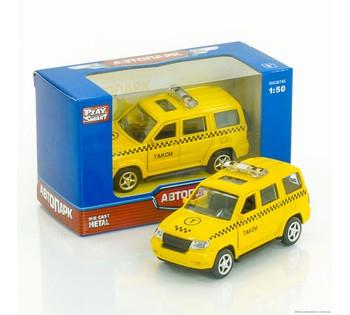 Машинка металлопластик Такси открываются двери, инерция