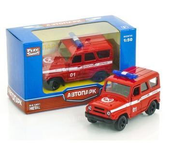 Машинка металлопластик Пожарная охрана открываются двери, инерция