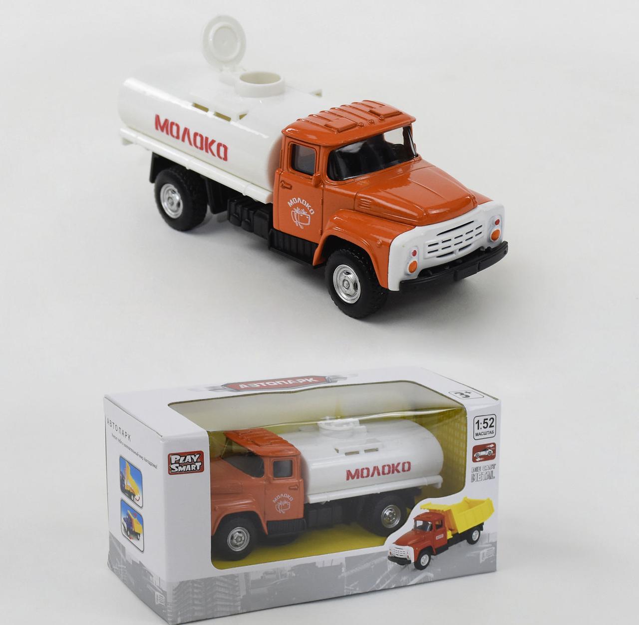 "Машина Play Smart ""Молоковоз"" металлопластик инерция, в коробке 6520 D"