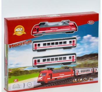 Железная дорога 9712-1 В (18) свет, звук, на батарейке, в коробке *Молния*
