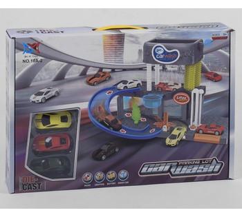 Автомойка свет, звук, 3 машинки, течет вода, в коробке