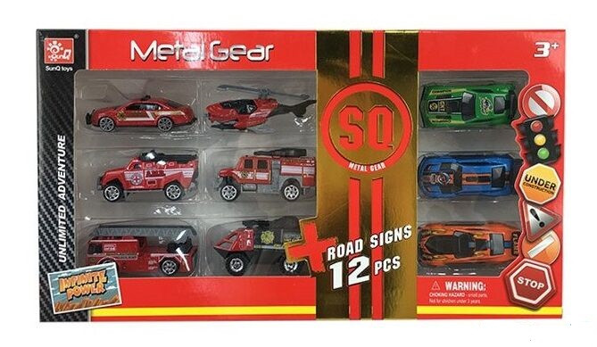Набор металлических машин Metal Gear 12 шт в коробке SQ 80539-4