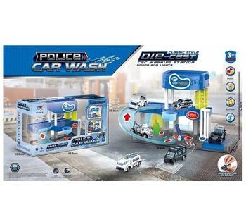 Автомойка свет, звук, 3 машинки, течет вода, в коробкe