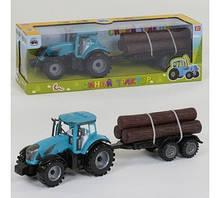 Трактор с прицепом *Синий Трактор* звук, инерция, в коробке 0488-306 CQ
