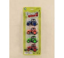 Набор тракторов 0897  4шт, на листе