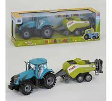 """Трактор с прицепом """"Синий Трактор"""" звук, инерция, в коробке 0488-304 CQ"""