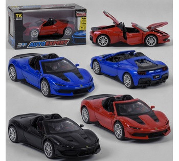 Машина металлическая *Ferrari*  Auto Expert , 3 цвета, инерция, свет, звук, открываются двери,