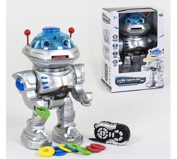 Робот на радиоуправлении Play Smart, стреляет, ходит, танцует, подсветка