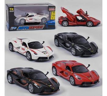 Машина металлическая Ferarri  Auto Expert , 4 вида, инерция, свет, звук, открываются двери