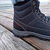 Сині чорні Чоловічі черевики євро зима демі демисезон еко шкіряні високі, фото 2