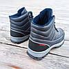 Сині чорні Чоловічі черевики євро зима демі демисезон еко шкіряні високі, фото 6