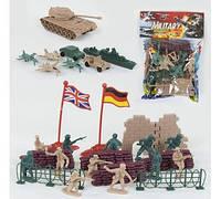 """Комбат набор солдатов """"Military"""" 32 детали, в кульке 79103"""
