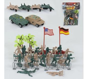 """Комбат набор солдатов """"Military"""" 36 деталей, в кульке 79105"""