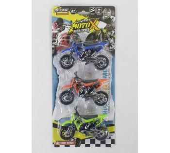 Набір мотоциклів 3 штуки на аркуші
