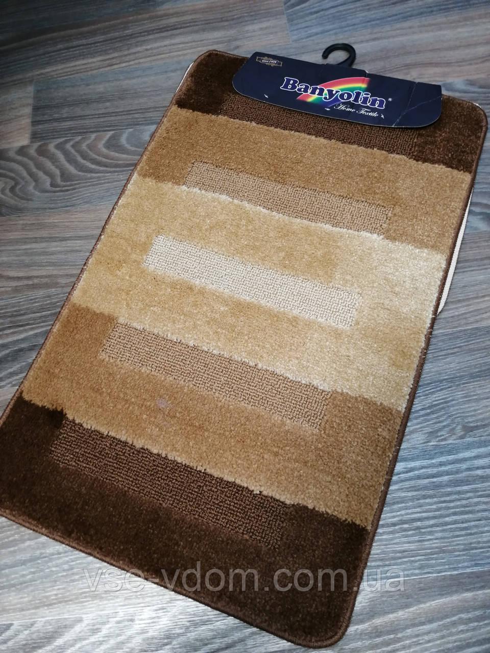 Набор ковриков для ванной комнаты Banyolin коричневый 80*50 см