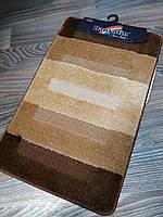 Набор ковриков для ванной комнаты Banyolin коричневый 80*50 см, фото 1