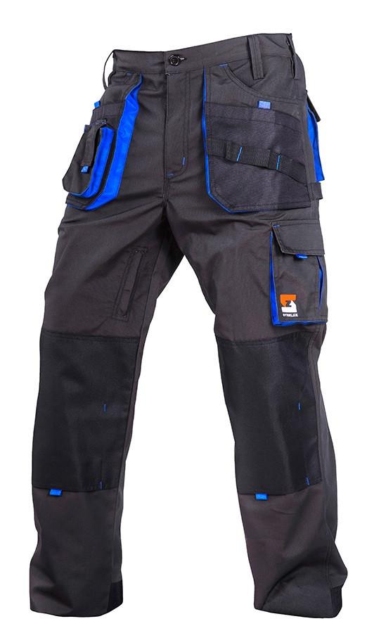 Штани робочі SteelUZ. Сірі. Блакитні вставки XL