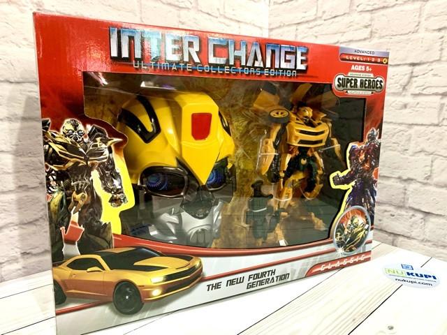 Трансформер Inter Change *АВТОБОТЫ* с маской, 2 вида, в коробке 4091
