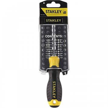 Отвертка со сменными вставками 33+1 предмета  Stanley Multibit STHT0-70885