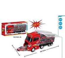 Трейлер Пожарная машина из серии Trailer Metal alloy car