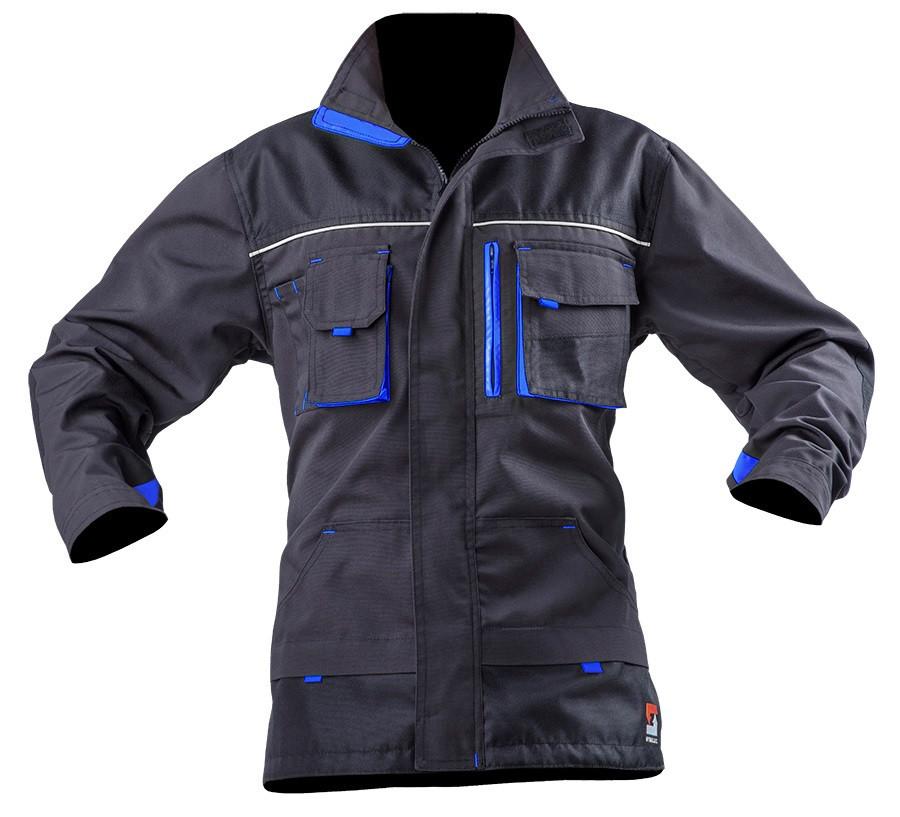 Куртка робоча SteelUZ. Сіра. Блакитні вставки 2XL