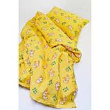 Комплект постельного белья детский ранфорс 20122 желтый ТМ Вилюта, фото 3