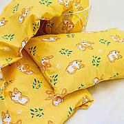 Комплект постельного белья детский ранфорс 20122 желтый ТМ Вилюта