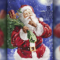 Алмазная вышивка мозаика The Wortex Diamonds Дед Мороз с подарками 30х40см TWD70001 полная зашивка квадратные