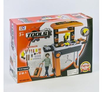 Набор инструментов в чемодане 008-922 раскладывается в стол-стойку