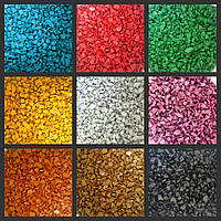 Декоративний кольоровий камінь (щебінь, гравій) для ландшафта
