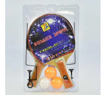 Набор ракеток С 34430 для пинг-понга (50) сетка в наборе, 3 шарика, в слюде