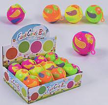 Мяч-прыгун Flash Candy Ball цена за 1 шт/ 12 шт в блоке свет, пищалка С 43777
