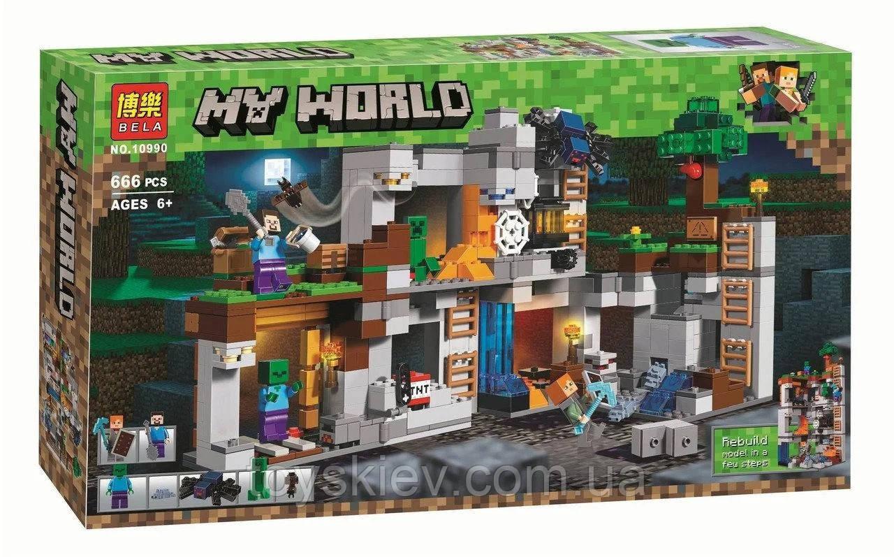 "Конструктор Bela 10990 ""Приключения в шахтах"" (аналог Lego Майнкрафт, Minecraft 21147)"