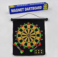 Дартс магнитный в коробке размер 17 4 дротика в комплекте С 33999