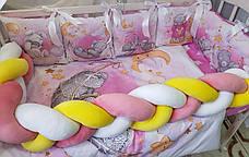 Комплект в детскую кроватку Косичка 003, фото 3