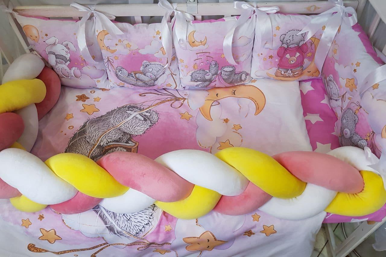 Комплект в детскую кроватку Косичка 003