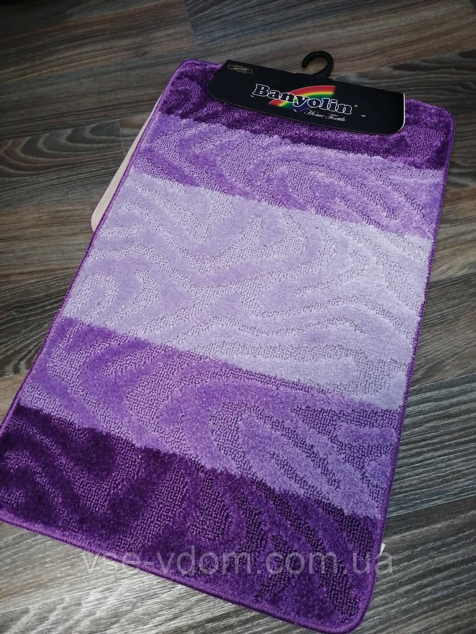 Набор ковриков для ванной комнаты Banyolin фиолетовый 80*50 см