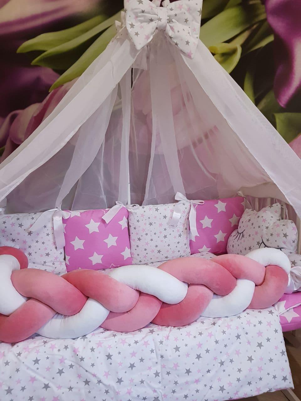 Комплект в детскую кроватку Косичка 004