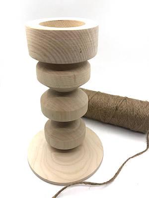 Дерев'яний підсвічник фігурний 20см.