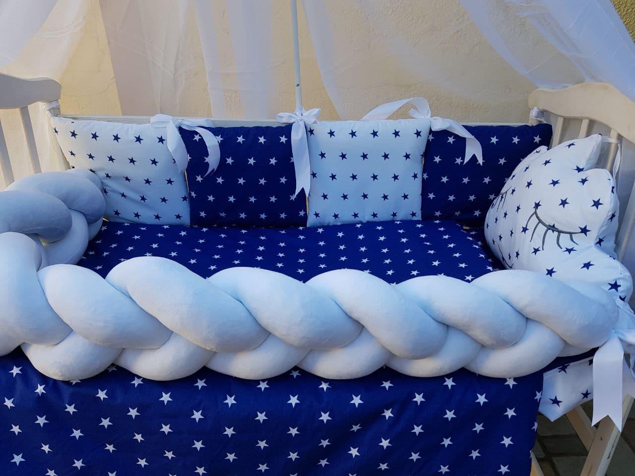 Комплект в детскую кроватку Косичка 005